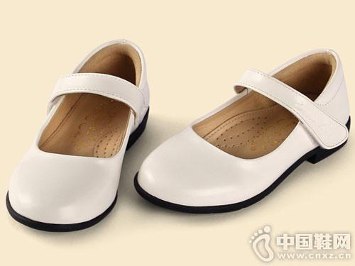 四季熊女童皮鞋女孩兒童真皮黑色公主鞋