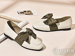 莎诗特平跟蝴蝶结女单鞋2019早春新款