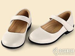 四季熊女童皮鞋女孩�和�真皮黑色公主鞋
