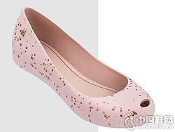 印花艺术溅染鱼嘴单鞋Melissa梅丽莎果冻鞋
