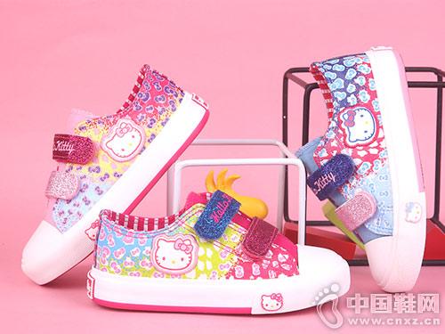 女童帆布鞋2019HELLO KITTY凯蒂猫春季新款