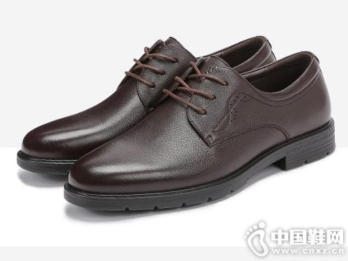 梦特娇男鞋2019春季新款男士德比鞋