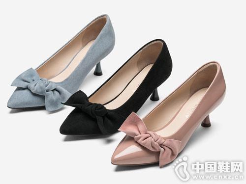 2019春款topglroia汤普葛罗蝴蝶结单鞋