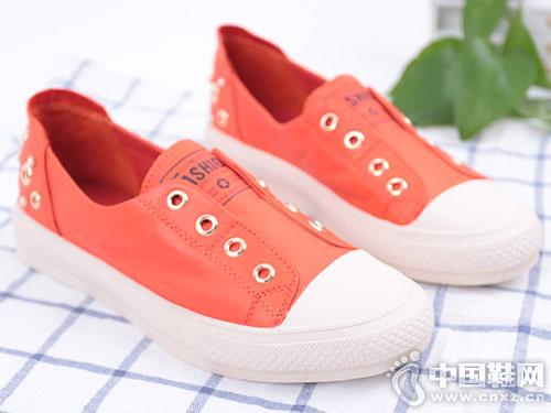 新款圆头平底双凤女单皮鞋小白鞋