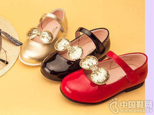 2019春秋新款3-6歲斯乃納至悅女童皮鞋