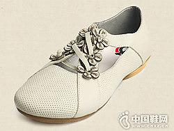 2019春季新款真皮女鞋相伴学院风小白鞋