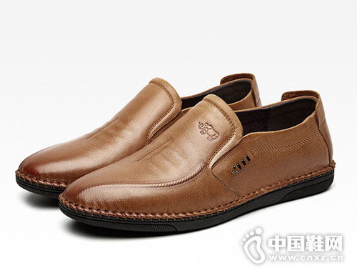 VOLO犀牛皮鞋一脚蹬驾车休闲皮鞋