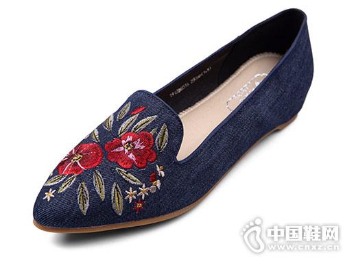 老美�A2019春季新款�C花�r尚布鞋