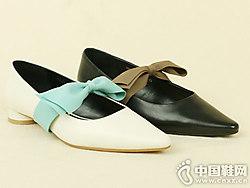 丹比奴2019春季新款中跟单鞋