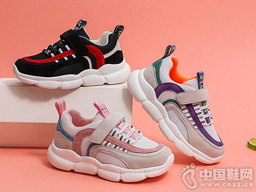 红蜻蜓童鞋2019新款 时尚拼接 运动范新潮