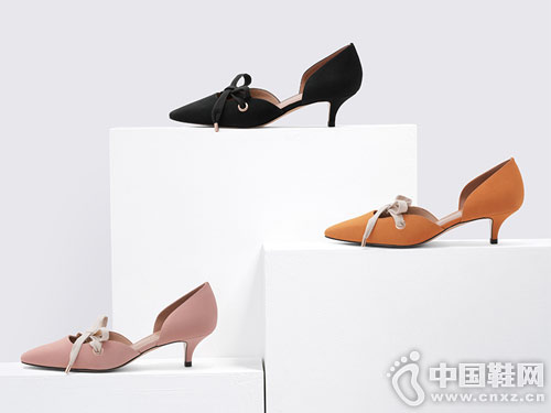 CHARLES&KEITH中跟鞋 优雅系带 双侧镂空