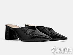 世尊2019新款女后空单鞋春季