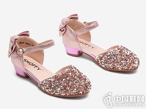 斯纳菲女童皮鞋公主鞋2019春秋新款