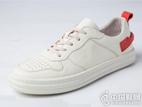 �R��杜克2019春季新品 潮流真皮小白鞋