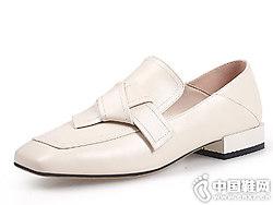 翡丽jadyrose?#21512;?019新款方头单鞋