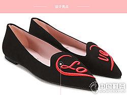 prettyballerinas黑色�q面女芭蕾舞平底鞋
