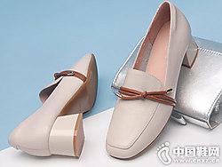 粗跟单鞋女春季2019新款酷斯?#20013;?#38386;鞋