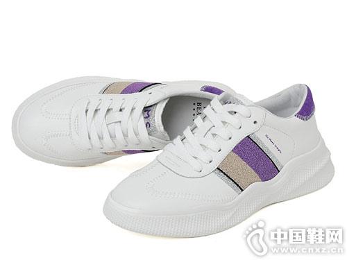 自由姿色2019年春季新款百搭小白鞋