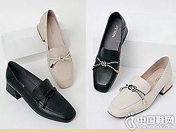 2019百田森豆豆鞋女新款乐福鞋