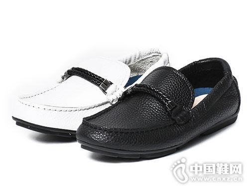 ATO伐拓牛皮男休閑鞋 豆豆鞋