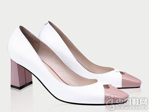新款时尚浅口方头鞋2019香阁儿高跟鞋