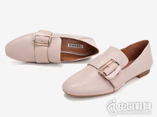 天美意乐福鞋一脚蹬穆勒鞋2019春新款