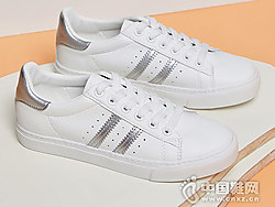 西遇女鞋新款网红透气休闲白色板鞋