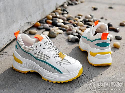 高蒂女鞋2019春季新款老爹鞋