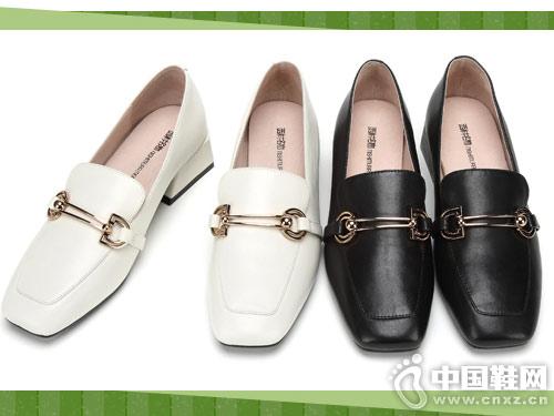 西村名物乐福鞋女2019新款时尚女鞋