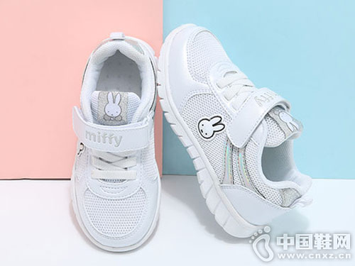 米菲童鞋女童韩版透气小白鞋休闲鞋