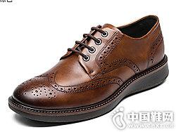 ECCO�鄄�r尚拷花精致男士皮鞋