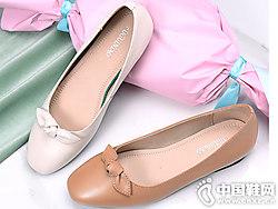 富贵鸟女鞋2019春季新款韩版蝴蝶结单鞋
