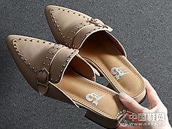 漫沙洛2019夏季新款懒人外出时尚穆勒鞋