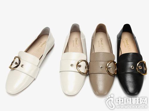 爱柔仕新款牛皮休闲乐福鞋