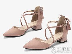 2019春单鞋女性感低跟鞋爱柔仕新款