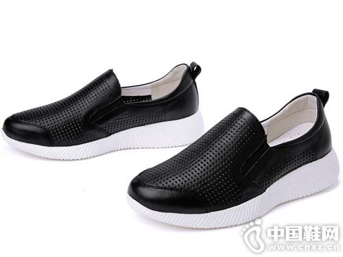 吉祥鸟镂空小白鞋女2019新款百搭休闲鞋