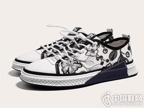 保罗骑士韩版时尚板鞋男潮流个性潮鞋