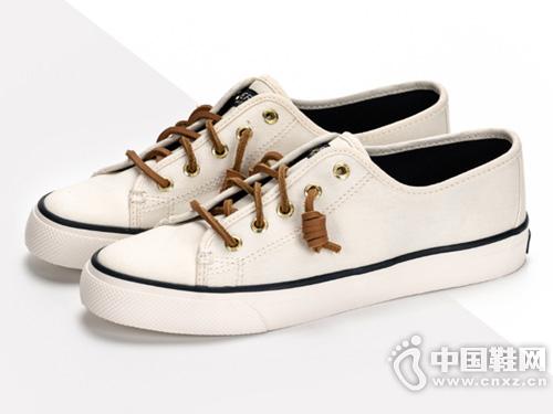 19新品女鞋SPERRY斯佩里帆布鞋