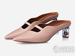 哥弟女鞋2019春季新品异形跟波浪一脚蹬