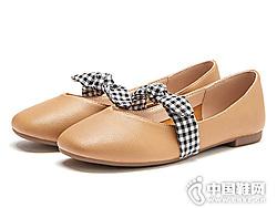 热风春季新款女士小清新蝴蝶结休闲鞋