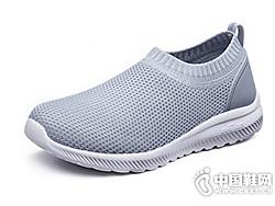 足力健老年平底单鞋薄款网鞋懒人鞋