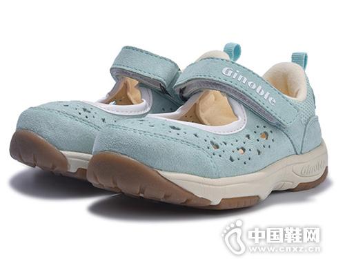 基诺浦夏款儿童凉鞋婴儿宝宝机能鞋