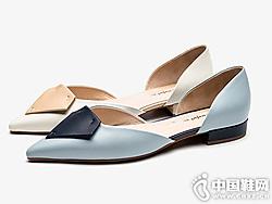 CNE2019春季新品尖头浅口中空凉鞋