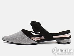 2019新款EM易美时尚品牌后空凉鞋