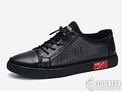 保罗盖帝男鞋休闲皮鞋男2019新款