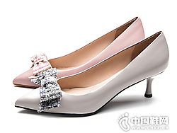 2019尖�^�\口蝴蝶�Y�R��斯丹高跟鞋