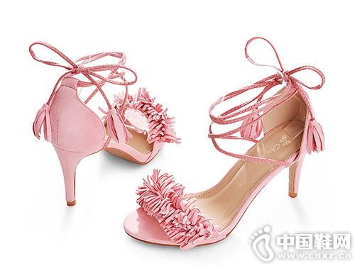 CHIC DOLL琪可朵新款韩版百搭罗马绑带凉鞋