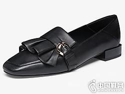 波尔谛奇平底懒人一脚蹬小皮鞋