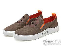 Jeansie静熙2019男士帆布鞋一脚蹬布鞋