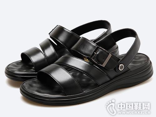 沙滩鞋2019新款皮尔卡丹时尚男鞋